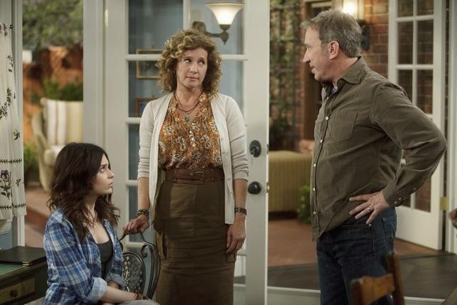 Alexandra Krosney, Nancy Travis and Tim Allen in ABC's Last Man Standing.
