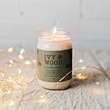 Ivy & Wood Pine Needle Limited Edition Christmas Mason Jar Soy Candle ($40)