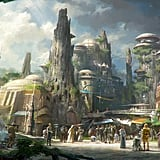 A concept drawing of Star Wars: Galaxy's Edge.