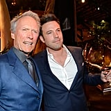 Ben Affleck posed backstage with Clint Eastwood.
