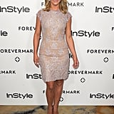 Julianne Hough opted for a lacy sheath.