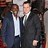 Close pal Don Cheadle joined Matt on the red carpet at their June 2007 LA premiere of Ocean's Thirteen.