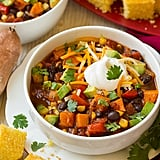 Roasted Sweet Potato Black Bean Chili