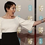 When she was so excited to be at the BAFTAs.