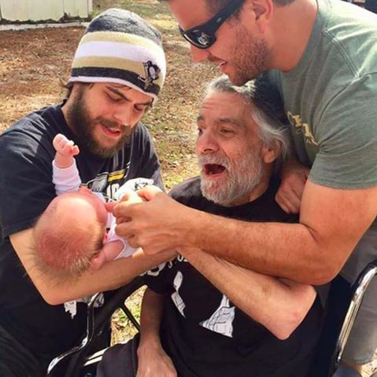 Grandfather with MS Touches Grandson For First Time