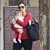 Drew Barrymore held Olive Kopelman in LA.