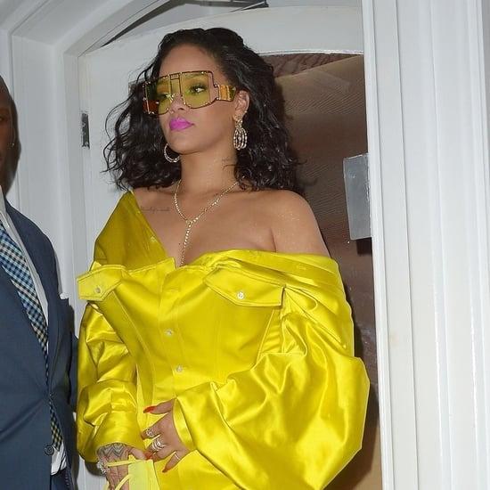 Rihanna Yellow Minidress