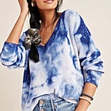 Anthropologie Gracie V-Neck Tie-Dye Sweater