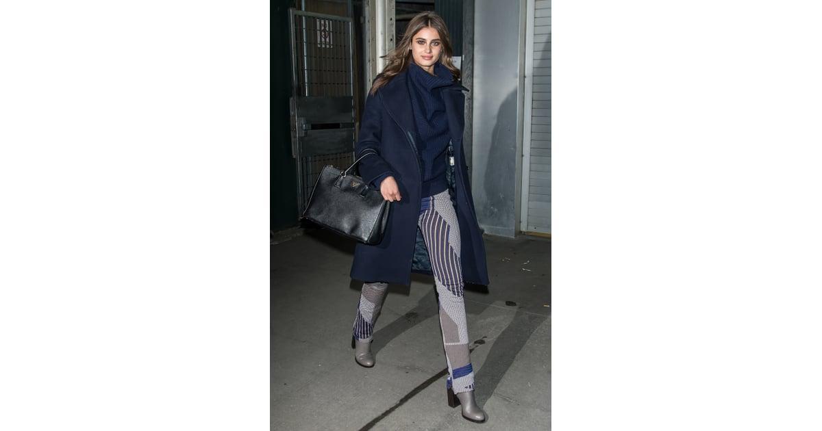 faad2425a641 Taylor Hill wearing a Prada bag. | Victoria's Secret Models' Street Style |  POPSUGAR Fashion Photo 36