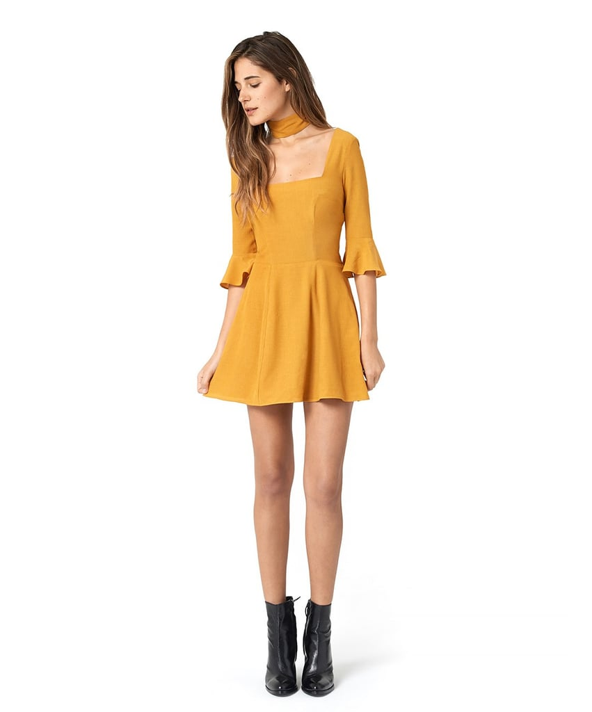 The Emily Dress in Mustard ($250)