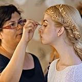 The makeup artist accentuated Allison's large eyes.  Photo courtesy of CW