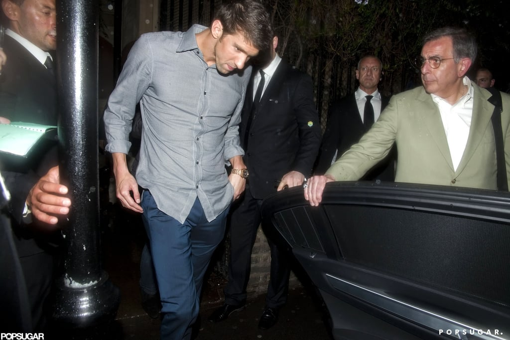 Michael Phelps ducked out of a party and into his car.