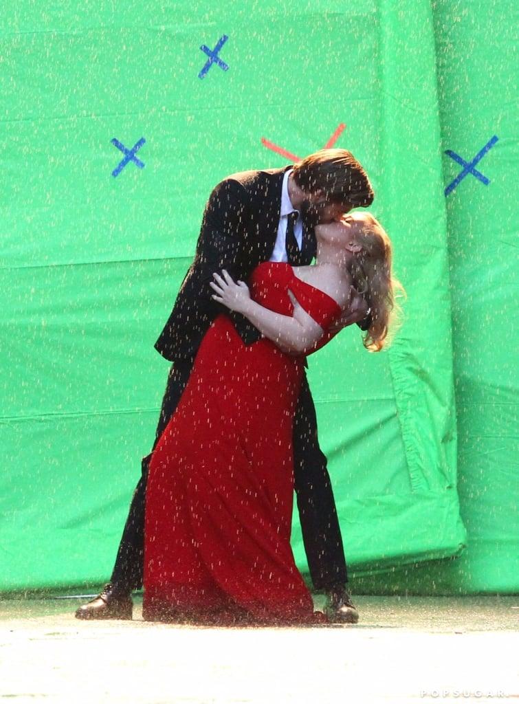 Liam Hemsworth and Rebel Wilson Isn't It Romantic Set Photos