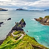 While in Dingle, make sure you check out Conor Pass, Slea Head Drive (which is part of the Wild Atlantic Way), Dunquin Pier (pictured), and Inch Beach. And if the weather permits, go surfing or kayaking on Dingle's beautiful blue waters.  For food, definitely grab ice cream from Murphy's, enjoy fresh seafood at Out of the Blue, grab your morning coffee from Bean in Dingle, and enjoy a few pints of Guinness or cider at Dick Macks or Foxy John's.