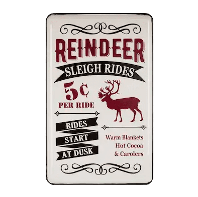 Glitzhome Multi-Color Christmas Reindeer Wall Art