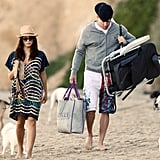 Channing Tatum and a pregnant Jenna Dewan spent a day at the beach.