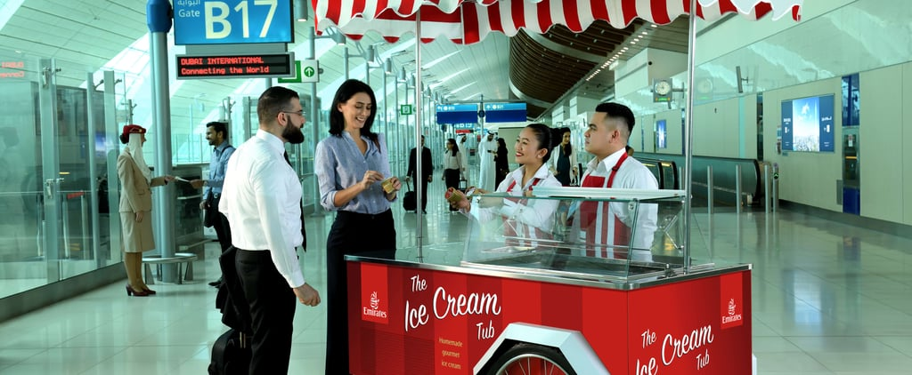 Emirates Free Ice Cream at Dubai Airport Terminal 3