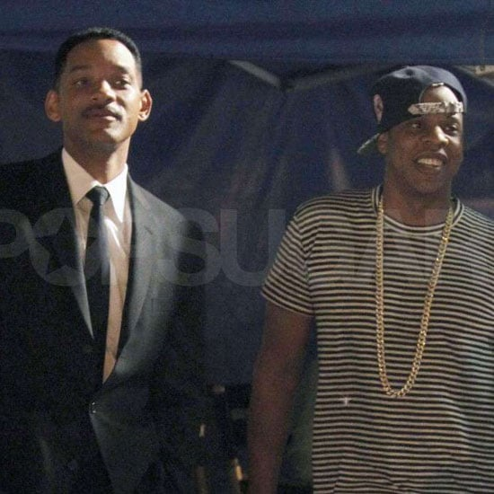 Jay-Z Pays Will Smith a Visit on the Men in Black III Set
