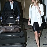 Kate Bosworth and Michael Polish walked together through the airport in Sydney.