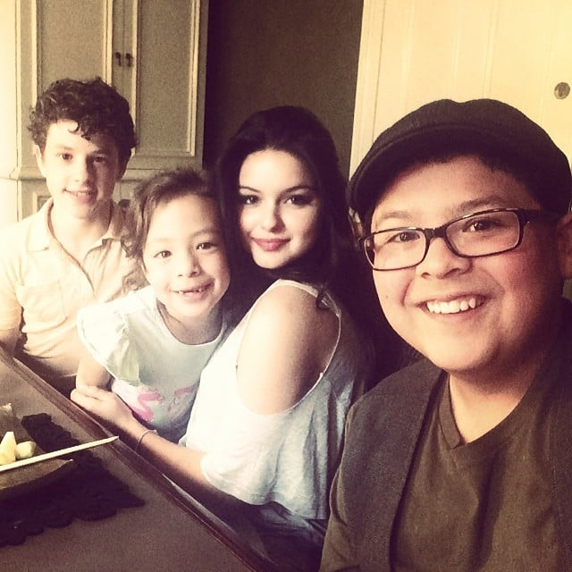 Nolan Gould, Aubrey Anderson-Emmons, Ariel Winter and Rico Rodriguez had dinner together on Feb. 23. Source: Instagram user arielwinter