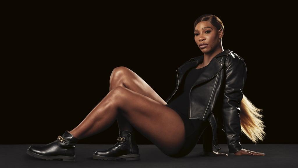 Serena Williams in the Stuart Weitzman Chain Lift Bootie Boot