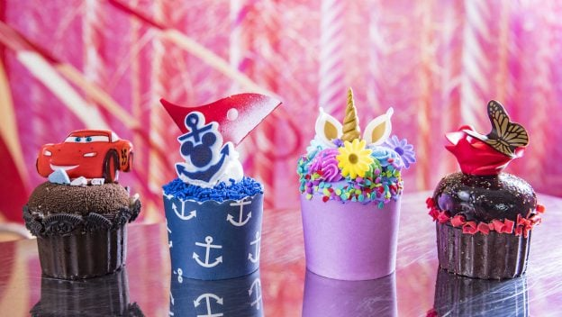 The Disney Dream and Fantasy Cruises Have 4 New Cupcakes
