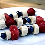 Red, White, and Blue Fruit Kebabs
