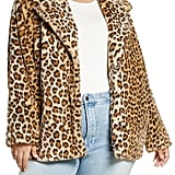 Halogen Leopard-Print Faux-Fur Coat