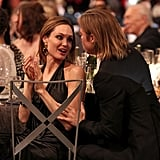 Brad sat close to Angelina during the SAG Awards.
