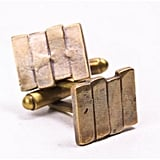 Bing Bang By Anna Sheffield Brass Black Flag Cufflinks ($68)
