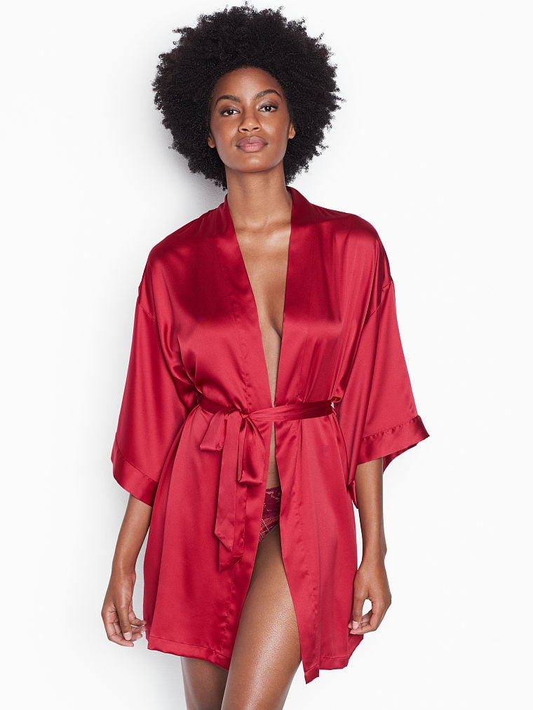 a56f554d0c2 Victoria s Secret Short Satin Kimono