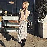 A Sweater, Midi Skirt, and Booties