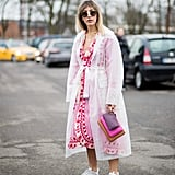 Wear It With Dad Sneakers and Let the Colours Peep Through a Sheer Coat