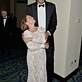 Kareem Abdul-Jabbar towered over Katie Couric.
