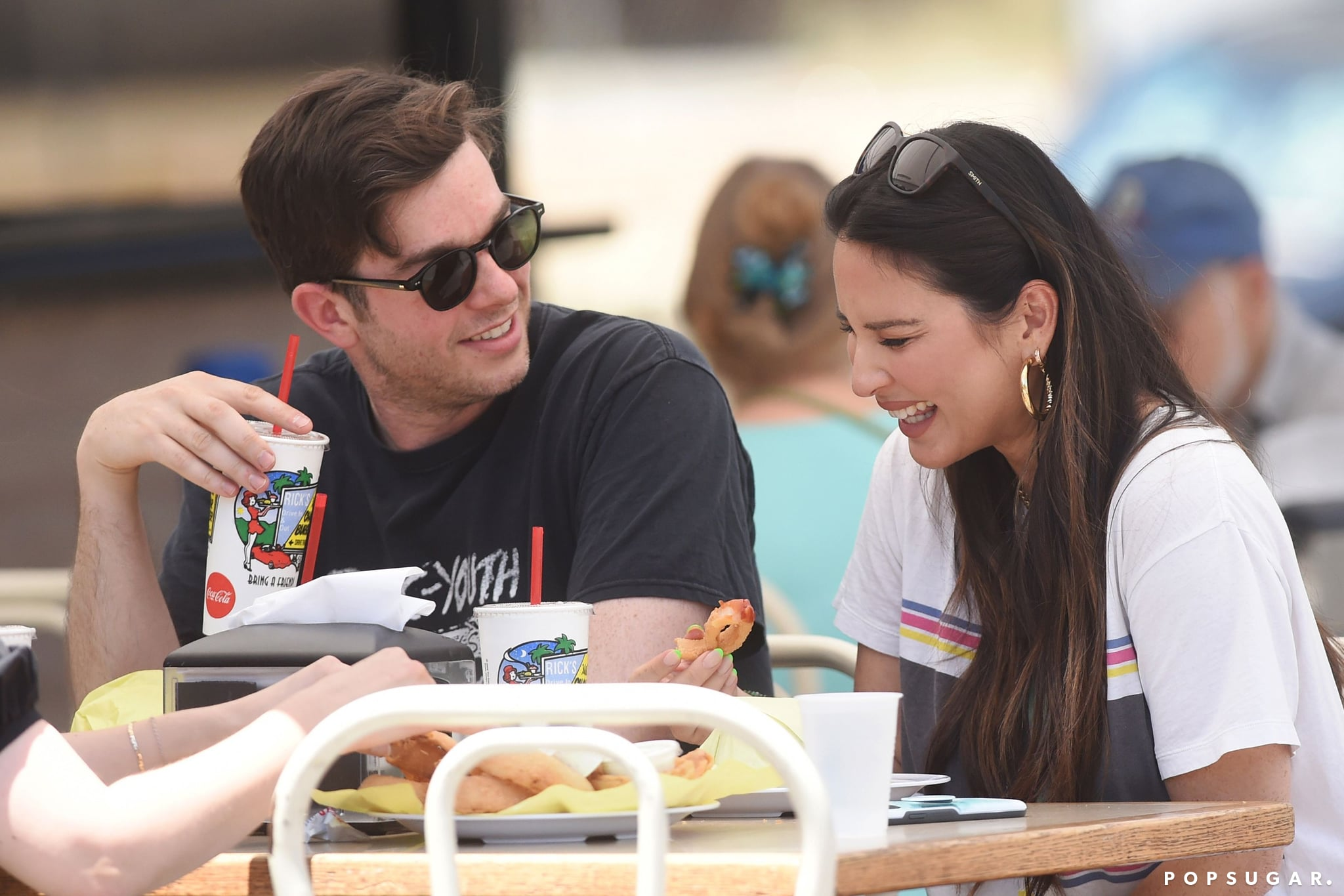 Exclusive All RoundMandatory Credit: Photo by Michael Simon/Shutterstock (12190275ag)Exclusive - First photos of John Mulaney and Olivia Munn after confirmation of their relationship. The two were all smiles and laughing out at lunch at Rick's Drive In & Out.Exclusive - John Mulaney and Olivia Munn on a date, Los Angeles, California, USA - 26 Jun 2021