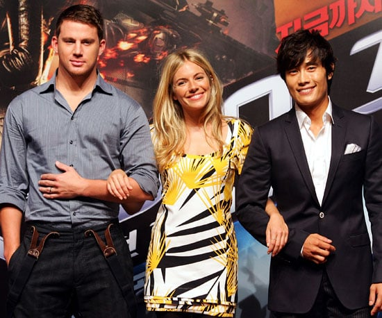 Slide Photo of Channing Tatum, Sienna Miller, Lee Byung-hun at GI Joe Seoul Press Conference