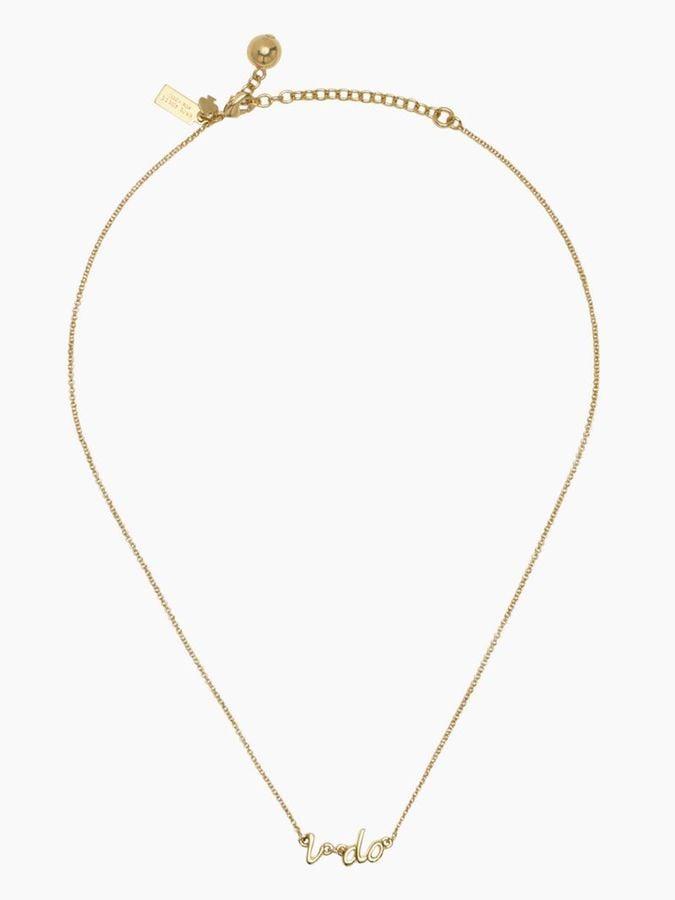 "Kate Spade Gold ""I Do"" Necklace"