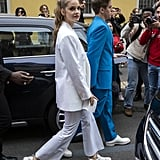 Barbara Palvin and Dylan Sprouse at Milan Fashion Week
