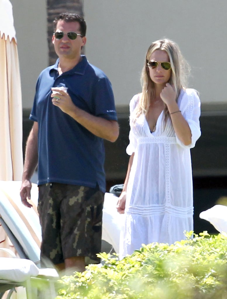 Molly Sims and husband Scott Stuber hanging out in Maui.