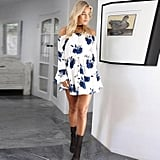 Sunward Off-Shoulder Minidress