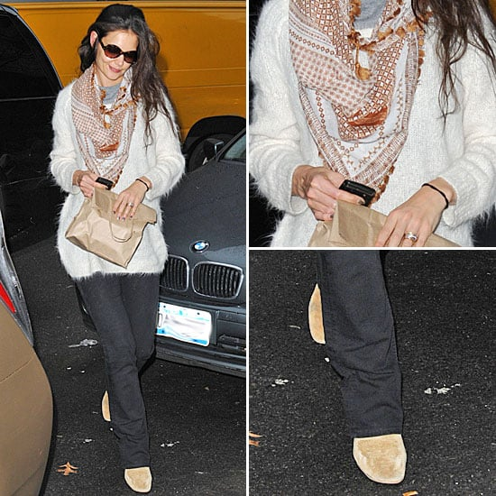 Katie Holmes Isabel Marant Booties January 2012