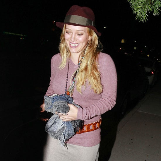 Pregnant Hilary Duff at Dinner With Mike Comrie Pictures