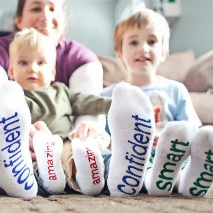Notes to Self Positive Message Socks For Kids