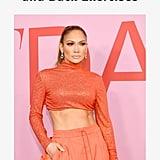Jennifer Lopez Abs and Back Exercises