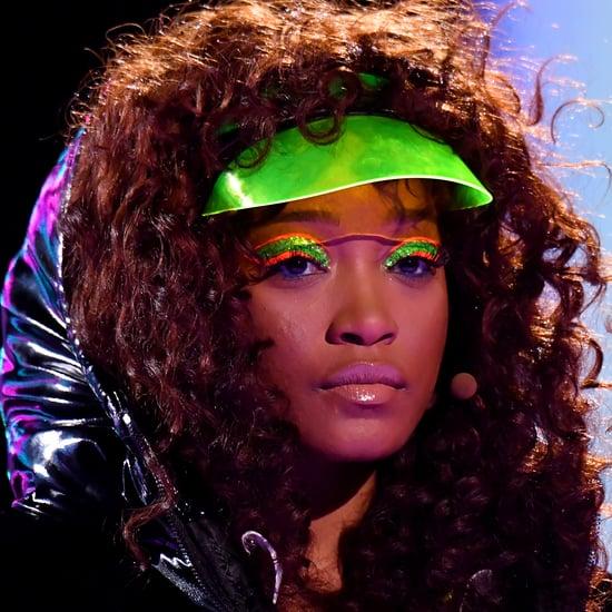 Keke Palmer's Neon Green and Orange Eye Makeup at 2020 VMAs