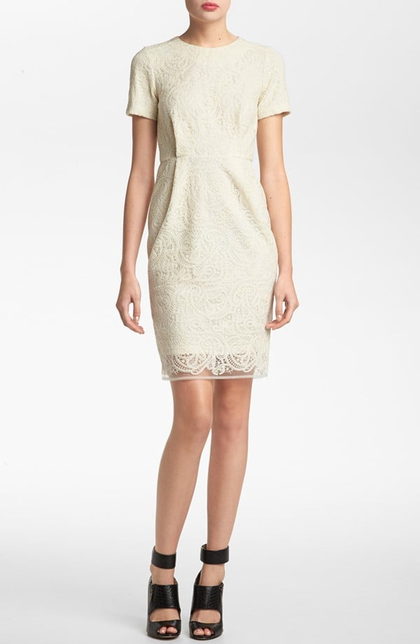 Just try to hold us back from a demure white lace dress: this Topshop style ($87, originally $130) fits the bill perfectly.