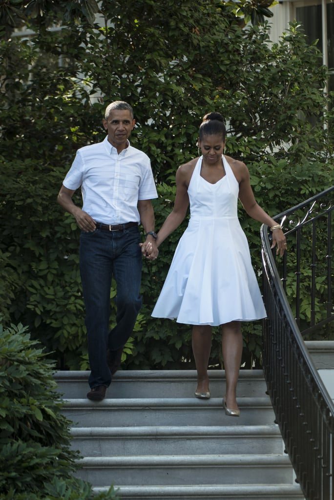 President Obama and First Lady Obama stepped out in white for the festivities in 2014.