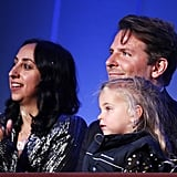Bradley Cooper and Daughter Lea at the Mark Twain Prize Gala