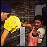 Jessica Szohr showed off her boxing skills at the gym. Source: Instagram user itsmejessicaszohr/a>