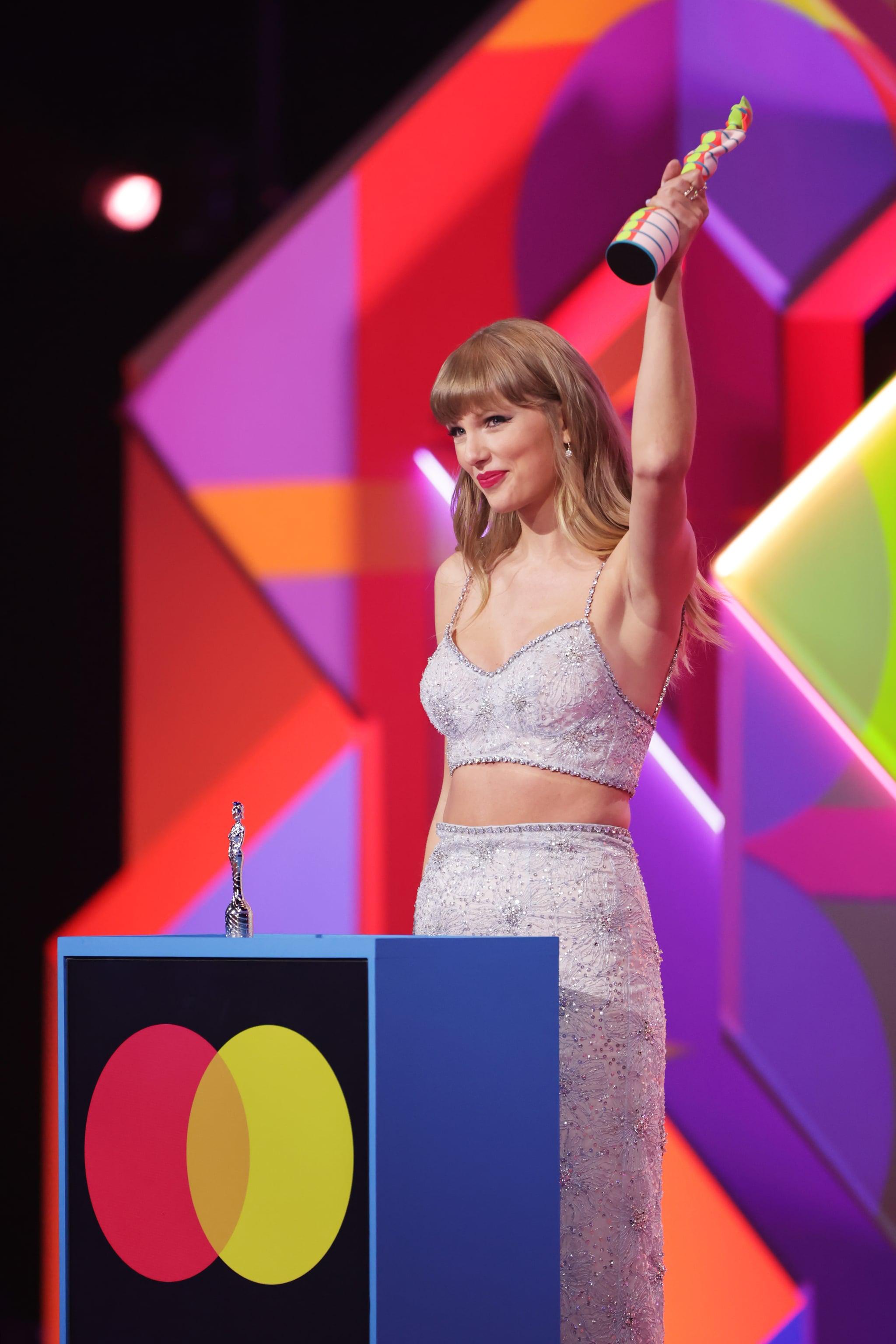 Taylor Swift Wore Miu Miu at the 2021 BRIT Awards   POPSUGAR Fashion